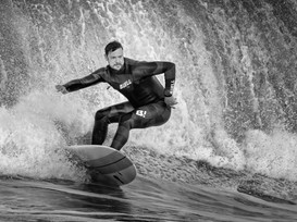 MONO: 'North Coast Big Wave Surfing' by Robert Sergeant - Central Photographic Association