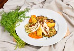 Гриловани зеленчуци с халуми