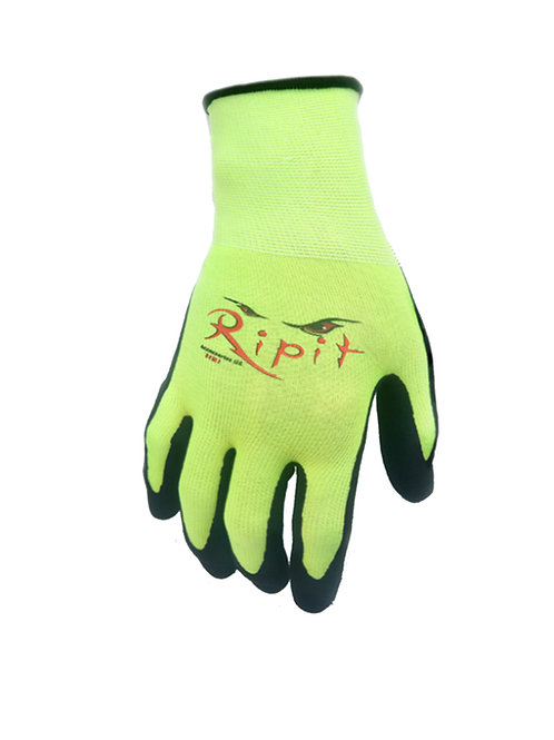 Hi Visibility Latex Coated Paint/Drywall Safety Glove