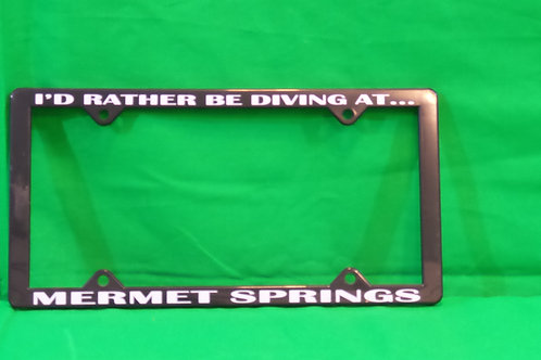 Mermet Springs License Plate Holder