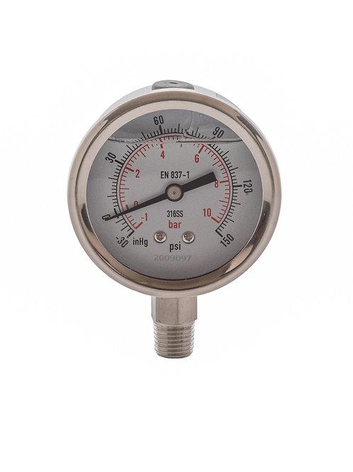 -30 to 150PSI Vacuum Pressure Gauge