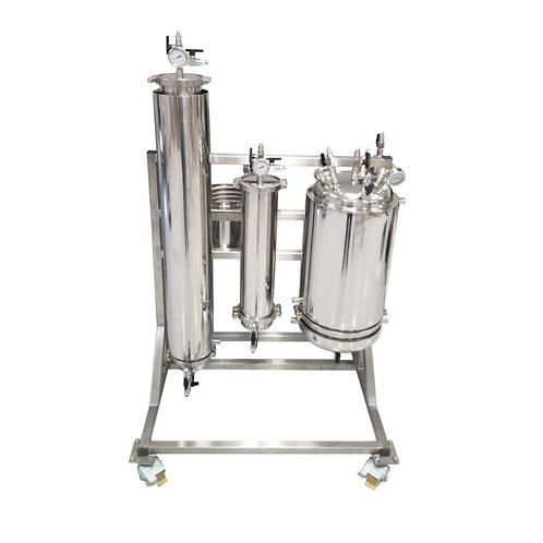 10 LB Rack Mounted Active Closed Loop Extraction System With CRC