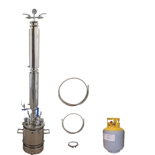 5 LB Bidirectional Flow Closed Loop Extractor With Solvent Tank