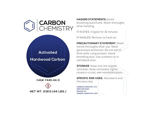 Activated Hardwood Carbon 20KG