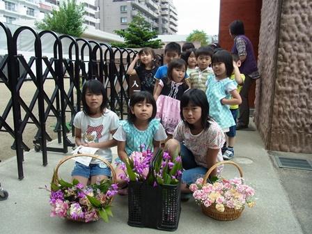 花の日の病院訪問