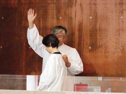 バプテスマ式(浸礼)