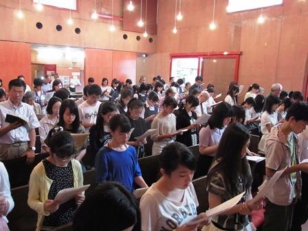 キリスト教学校を覚える日の礼拝