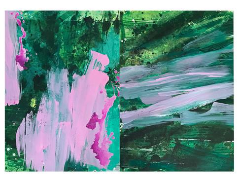 Farbe auf Alu 140 x 100 cm