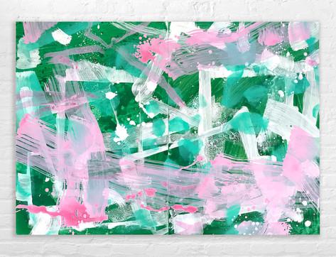 Farbe auf Alu: 140 x 100 cm