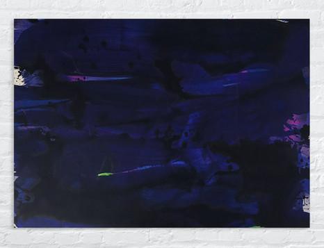 Farbe auf Alu: 100 x 70 cm