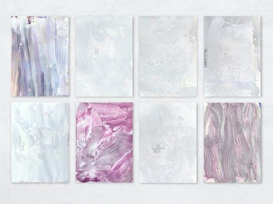 Farbe auf Alu: Je 70 x 100 cm