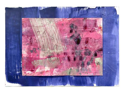 Farbe auf Papier 100 x 70 cm