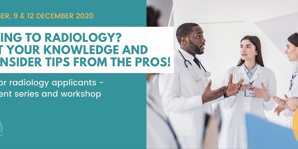 BIR Top tips for radiology applicants - virtual event series: Part 2