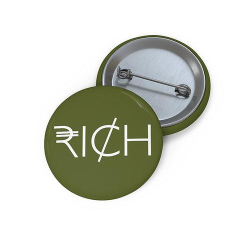 """""""RI¢H"""" Pin Buttons (Moss)"""