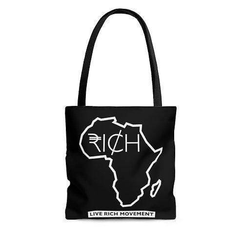"Africa ""RICH"" - Tote Bag (Black)"