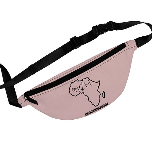 "Africa ""RI¢H"" Fanny Pack (Pink Clay)"