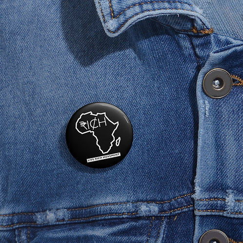 "Africa ""RI¢H"" Pin Buttons (Black)"
