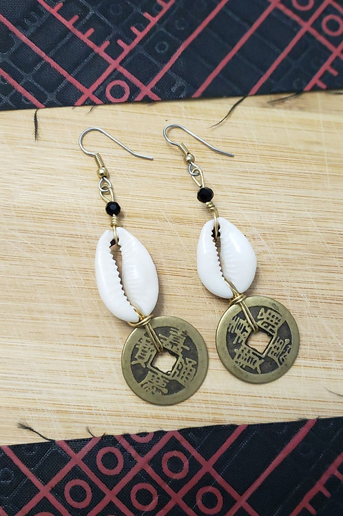 Owo Atijo Coin Earrings