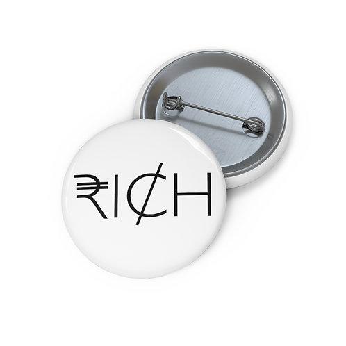 """RI¢H"" Pin Buttons (White)"