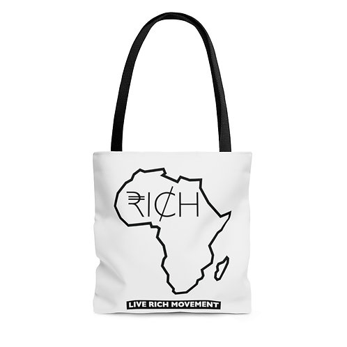 "Africa ""RICH"" - Tote Bag (White)"