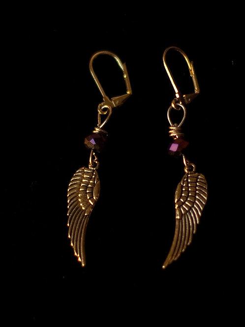 """""""Wing Charm"""" Earring"""