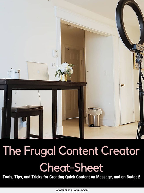 Frugal Content Creator Cheat-Sheet