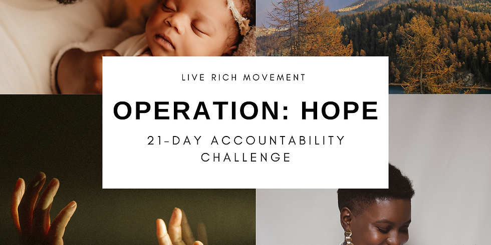 Operation: HOPE Mid-challenge check-in