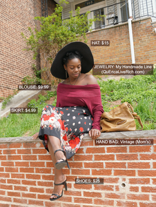 Thrifty Thursday Floral Skirt Cost Breakdown
