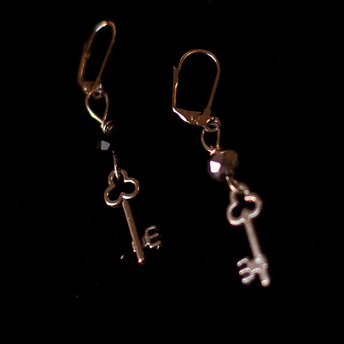 """Key Charm"" Earrings"