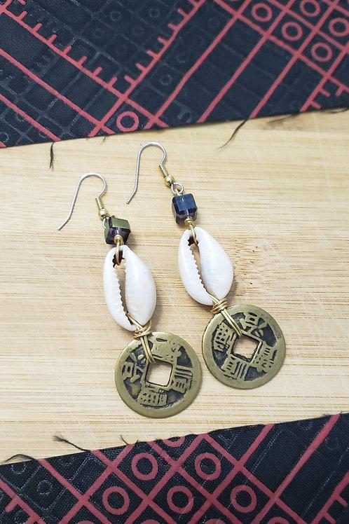 Owo Atijo Disco Coin Earrings