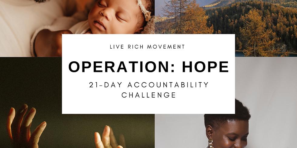 Operation Hope Kickoff Call