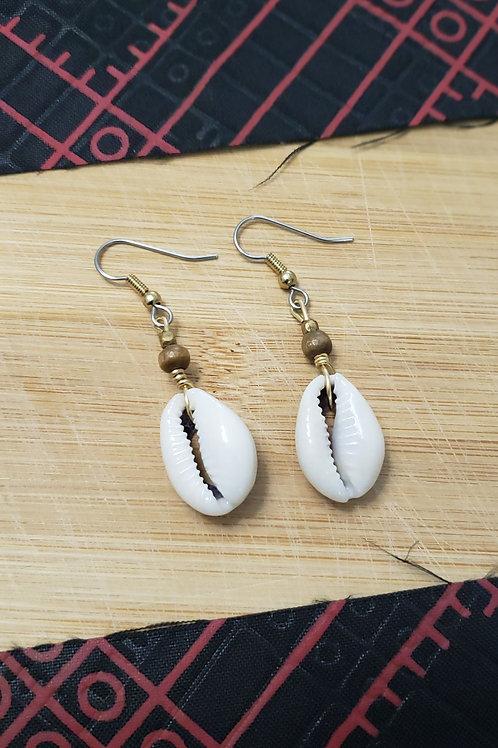 Owo Atijo Basic Wood Earrings