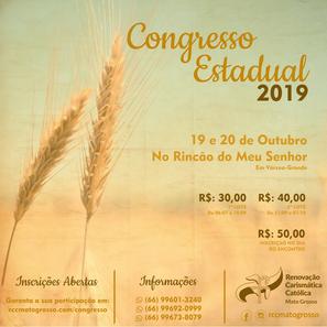Vem aí! Congresso Estadual 2019!