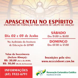 APASCENTAI NO ESPÍRITO - INSCRIÇÕES ABERTAS!
