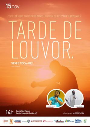 Tarde de Louvor com Moisés Rocha e Padre George! Participe!