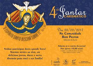 Grupo de Oração Cordeiro da Paz convida para o 4º Jantar Carismático!