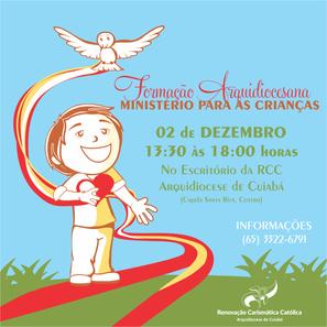 FORMAÇÃO ARQUIDIOCESANA DO MINISTÉRIO PARA AS CRIANÇAS!