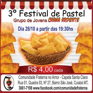 Grupo de Oração Jovem Chama Ardente convida para o 3º Festival de Pastel