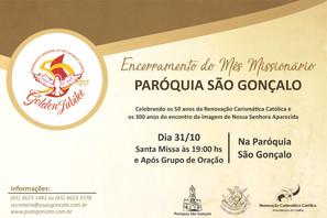 Convite da Paróquia São Gonçalo!