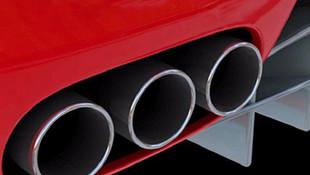 Titanium Exhaust with Special Color Tips