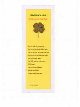 The SHAMROCK Clover with the Old Saying