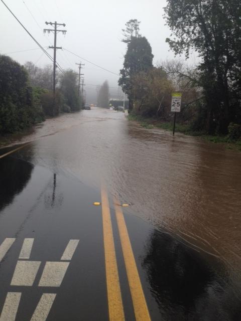 Olema Bolinas Rd. flooding