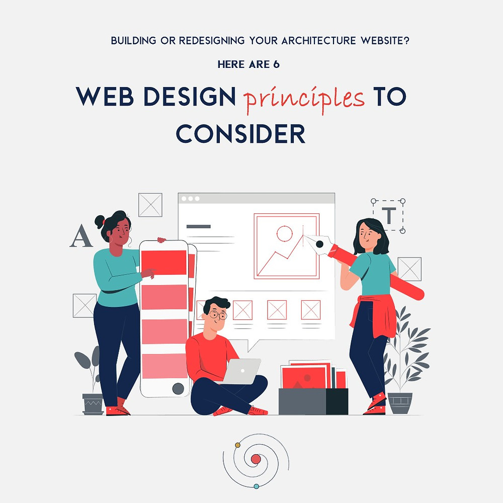 Group of designers creating Website