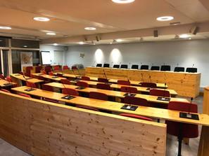Installation salle du conseil municipal