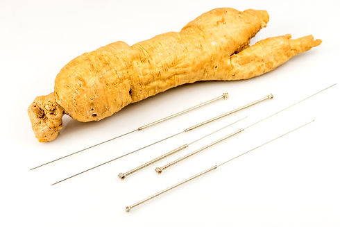 ginseng root and acupunture needles.jpg