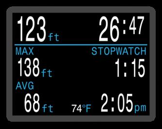 Shearwater Perdix AI - Gauge Mode