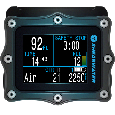 Shearwater Perdix AI Dive Computer - High Resolution, Easy-to-Read Display