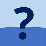 More Scuba Info Button: A big question mark on the ocean.