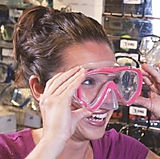 Scuba Diver Trying on Mask