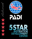 Authorized PADI 5-Star Instructor Development Center recognition.